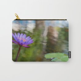 A puple lily flower in the pond Carry-All Pouch
