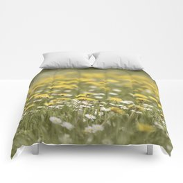 Meadow of happyness Spring flowers - Flower floral #Society6 Comforters
