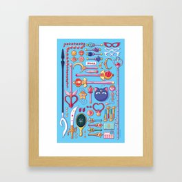 Magical Arsenal Blue Framed Art Print