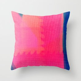 Art abstract pink blue Throw Pillow