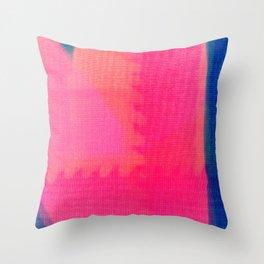Art abstract pink blue Throw Pillow