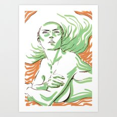 Summer Girl 3 Art Print
