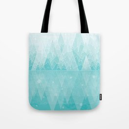 Geometric Lake Mountain IV - Winter Tote Bag