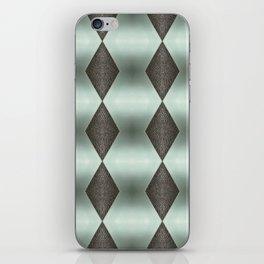 Mint Green, Cream & Chocolate Brown No. 5 iPhone Skin