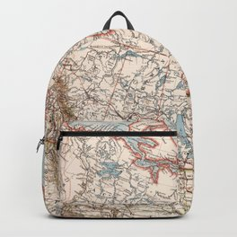 Vintage Map of Canada (1905) Backpack