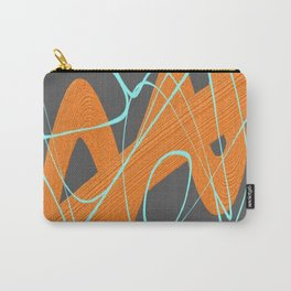 Grey orange and blue Carry-All Pouch