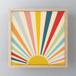 Sun Shines Inside you Framed Mini Art Print