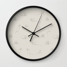 Mouse Takeover Wall Clock