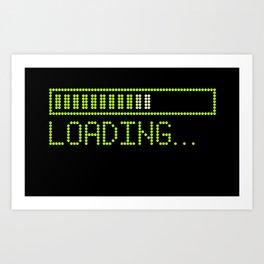 Green Loading Time Bar Art Print