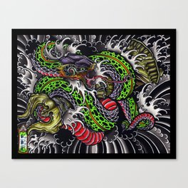 snake and vajra Canvas Print