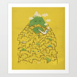 The Bearded City Art Print