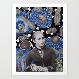 She Dreamed of Willow Ware Art Print