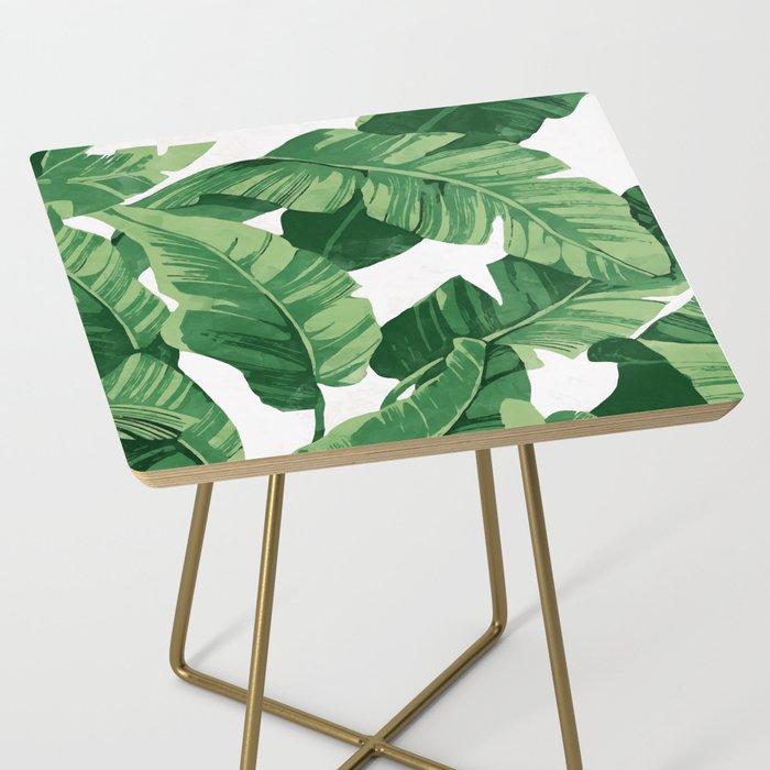 Tropical banana leaves IV Side Table