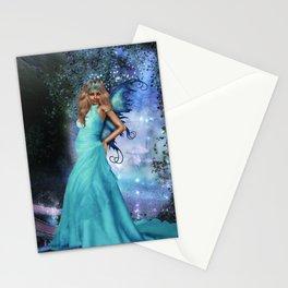Crystal Blue Stationery Cards
