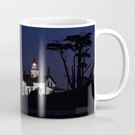 Battery Point Lighthouse in the night's blue cloak. Crescent City, California Coffee Mug
