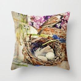 Spring Still Life Throw Pillow