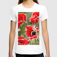 poppies T-shirts featuring Poppies by Regan's World