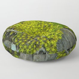 The tiny green forest Floor Pillow