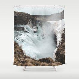 Gullfoss - Landscape Photography Shower Curtain