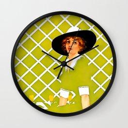 """C Coles Phillips 'Fadeaway Girl' """"In the Garden"""" Wall Clock"""