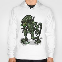 xenomorph Hoodies featuring Xenophobe?  Well, yeah...  This Alien spits acid! The Aliens Xenomorph Alien! by beetoons