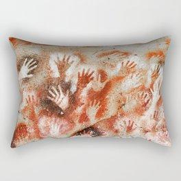 Cave Art Lascaux Hands Rectangular Pillow