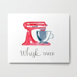 Red Stand Mixer - kitchen art, baker Metal Print