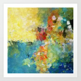 Light Colors Abstract Painting Art Print