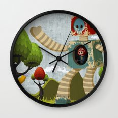 Woody Mecha Wall Clock