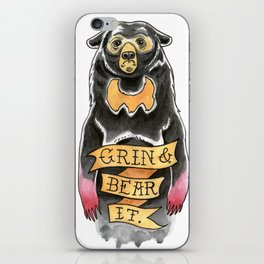 Grin and Bear It iPhone Skin