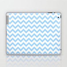 funky chevron blue pattern Laptop & iPad Skin