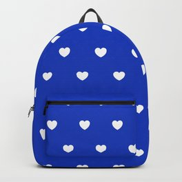 HEARTS ((white on azure)) Backpack