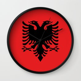 National flag of Albania - Authentic version Wall Clock