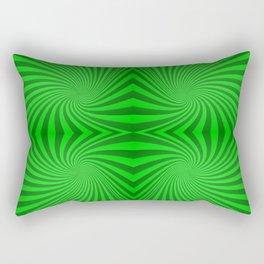 Green swirls Rectangular Pillow