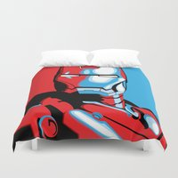 iron man Duvet Covers featuring Iron Man by C.Rhodes Design