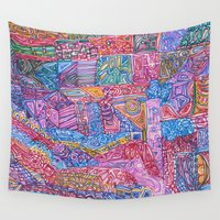 community Wall Tapestries featuring A Close Knit Community by Dana L Duncan