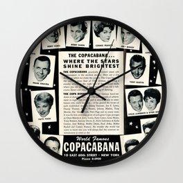 1950's Vintage NYC Copacabana Nightclub Advertisement Revue Poster Wall Clock