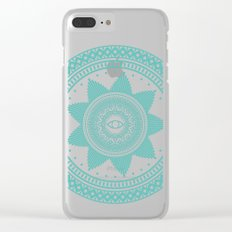 Eye of Protection Mandala Clear iPhone Case