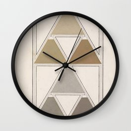Antique Color Theory Wall Clock