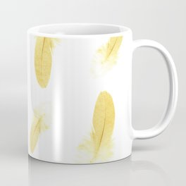 gold feather pattern Coffee Mug
