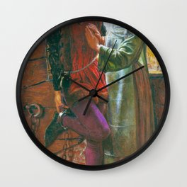 William Holman Hunt - Claudio And Isabella - Digital Remastered Edition Wall Clock