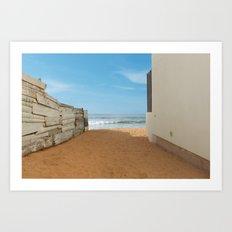 Meditation Beach Art Print