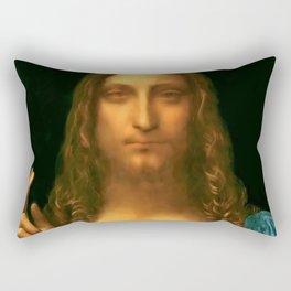 "Leonardo da Vinci ""Salvator Mundi"" Rectangular Pillow"