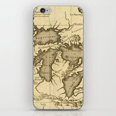 Great Lakes Map - 1737 iPhone & iPod Skin