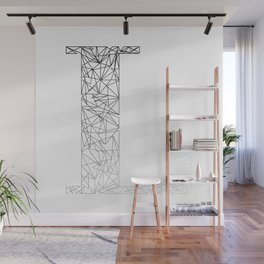 ''Geometry Collection'' - Minimal Letter L Print Wall Mural