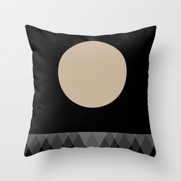 Sea at night Throw Pillow