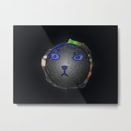 Cat Ball Metal Print