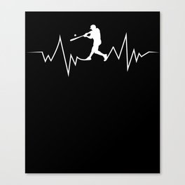 Baseball Heartbeat product Cool Gift for Sport Lovers Canvas Print