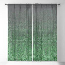 Reboot II GREEN Sheer Curtain