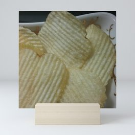 My chips and my tray. Mini Art Print